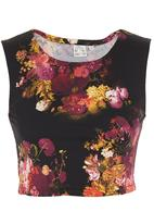 Carly Tod - Floral scuba top Multi-colour