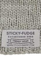Sticky Fudge - Knitted beanie Grey
