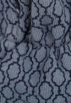 Sticky Fudge - Honey-print booties Mid Blue