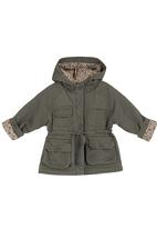 Sticky Fudge - Army jacket with covered buttons Dark Grey