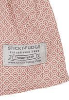 Sticky Fudge - Long-sleeved waffle dress Mid Pink