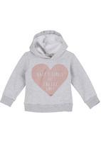 Sticky Fudge - Hoodie with heart print Grey
