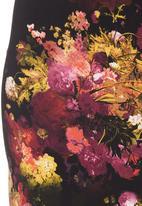 Carly Tod - Floral scuba tube skirt Multi-colour