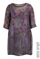 Ilan - Debra silk floral tunic Multi-colour