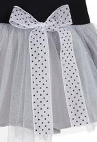 Just chillin - Long-sleeved dress with tutu skirt Black