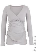 Kicker Clothing - Long-sleeved wrap top Pale grey