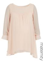 Label of Love - Chiffon baby doll top Pale Pink