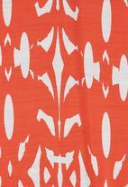 Megalo - Chevron 3/4 sleeve chiffon tunic Orange