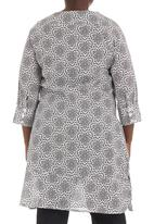 Megalo - Floral tunic Black/White