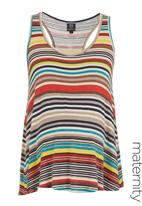 Me-a-mama - Striped racer vest Multi-colour