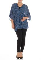 Me-a-mama - Chiffon kaftan top Multi-colour