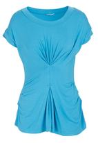 FRIENDS - Middle pleat top Turquoise