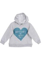 Sticky Fudge - Hoodie with heart print Grey