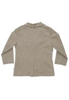 Sticky Fudge - Checked grandpa jacket Stone/Beige