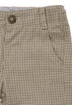 Sticky Fudge - Checked grandpa pants Stone/Beige