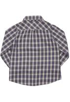 Sticky Fudge - Checked shirt with two front pockets Blue/White