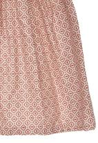Sticky Fudge - Printed scarf Mid Pink