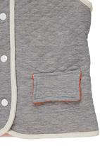 Adeva - Sleeveless quilted jacket Grey