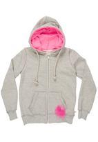 Adeva - Hooded sweat top Grey (pale grey)