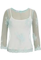 Soto - Antique lace top Green