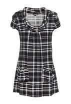 Revenge - Checked tunic grey