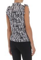 edit - Pussy-bow blouse Black/White
