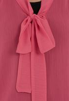 edit - Pussy-bow blouse Mid Pink