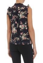 edit - Pussy-bow blouse Multi-colour