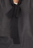 edit - Pussy-bow blouse Black