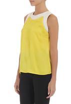 edit - Colourblocked blouse Yellow