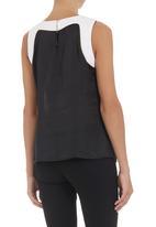 edit - Colourblocked blouse Black