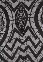 Revenge - Printed knit tunic grey
