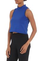 Fortune - Neoprene crop top mid Blue