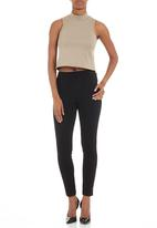 Fortune - Neoprene crop top NEUTRAL