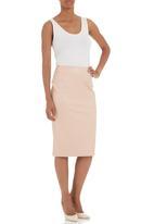 Akedo - Pleather pencil skirt Pale pink