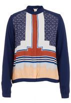Levi's® - Colourblocked long-sleeve banded blouse Multi-colour