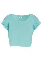 edge - Cropped T-shirt Green