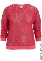 edge - Lace sweater Dark Pink