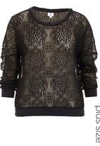 edge - Lace sweater Black