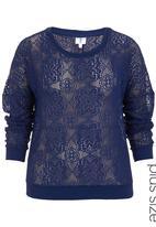 edge - Lace sweater Blue