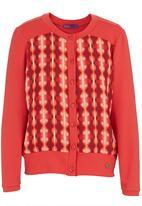 466/64 - Tribal-print blouse Coral