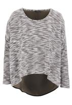 FATE - Olivia textured top Grey (dark grey)