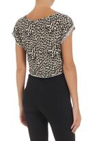 edge - Cropped T-shirt Animal-Print