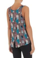 LO - Printed sleeveless top Multi-colour