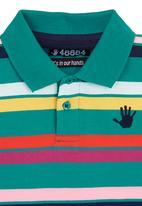 466/64 - Two-tone striped golf T-shirt Multi-colour