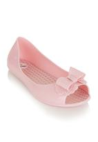 Urbankidz - Jelly pumps with bow detail Pale Pink