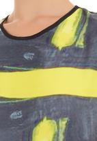 Cheryl Arthur - Lemon abstract tunic Grey/Yellow