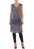 Terrence Bray - Printed draped tunic