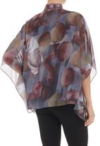 Terrence Bray - Printed mandarin button down top