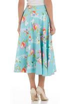 Tashkaya - Floral 50s-style skirt Multi-colour